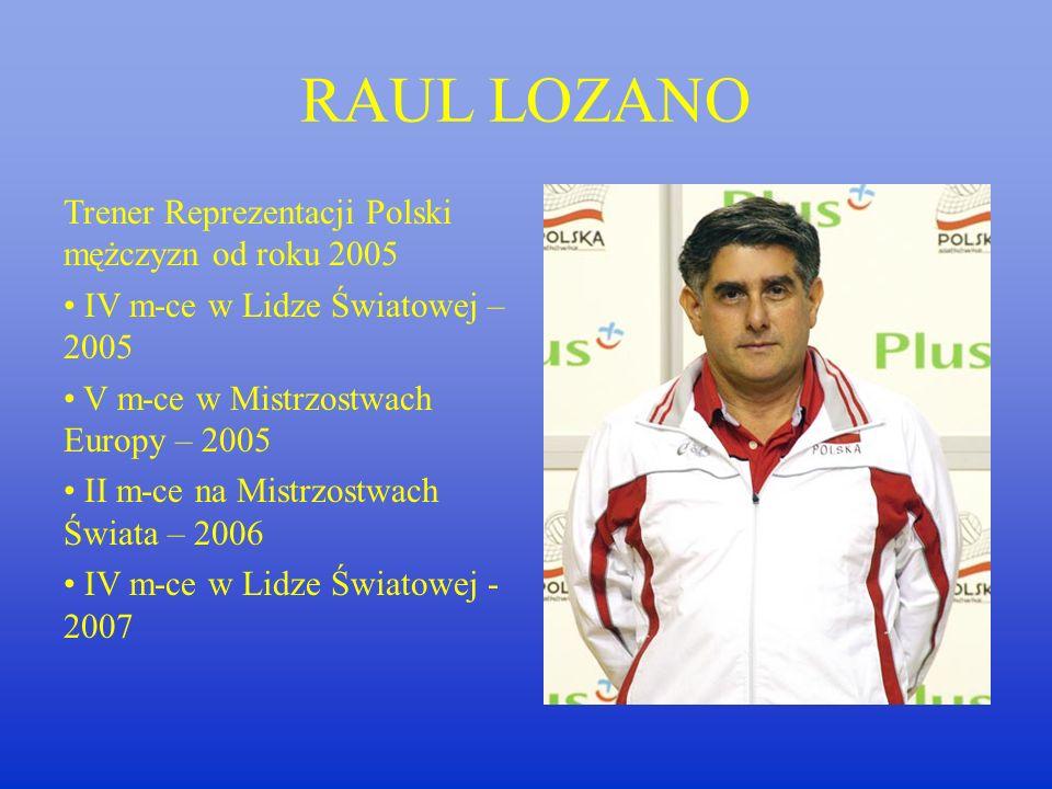 HUBERT WAGNER Trener reprezentacji Polski mężczyzn w latach 1973-1976/ 1982-1985 I miejsce na Mistrzostwach Świata w Meksyku w 1974r. Złoty medal olim