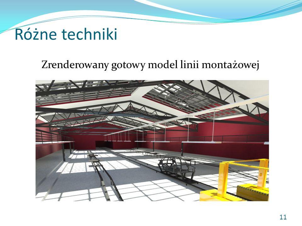 Różne techniki Zrenderowany gotowy model linii montażowej 11