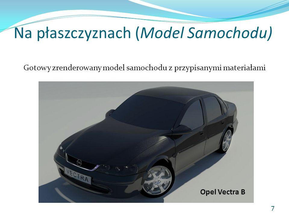 Na płaszczyznach (Model Samochodu) Gotowy zrenderowany model samochodu z przypisanymi materiałami Opel Vectra B 7
