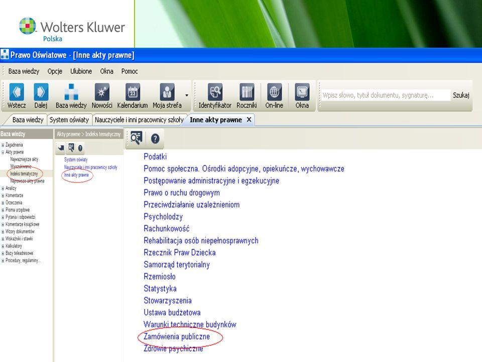 Wolters Kluwer Polska S.A, ul. Płocka 5a, 01-231 Warszawa, tel.: 0 801 04 45 45, www.wolterskluwer.pl17 P
