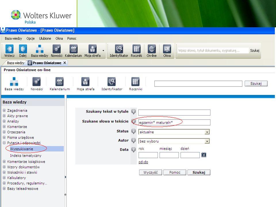 Wolters Kluwer Polska S.A, ul. Płocka 5a, 01-231 Warszawa, tel.: 0 801 04 45 45, www.wolterskluwer.pl29
