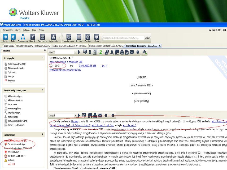 Wolters Kluwer Polska S.A, ul. Płocka 5a, 01-231 Warszawa, tel.: 0 801 04 45 45, www.wolterskluwer.pl69