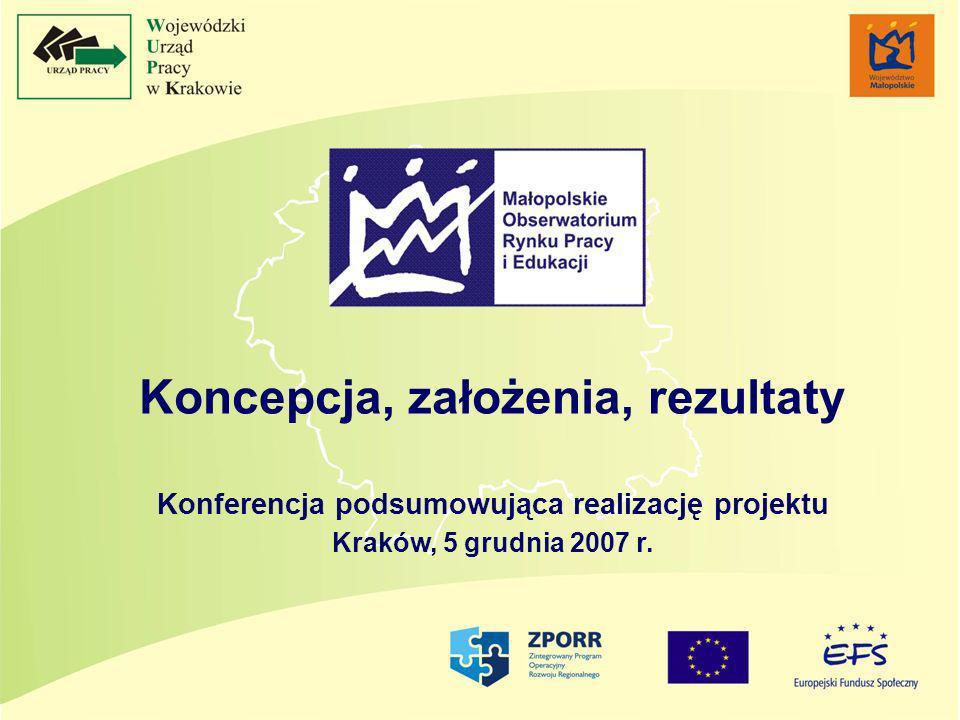 Koncepcja, założenia, rezultaty Konferencja podsumowująca realizację projektu Kraków, 5 grudnia 2007 r.