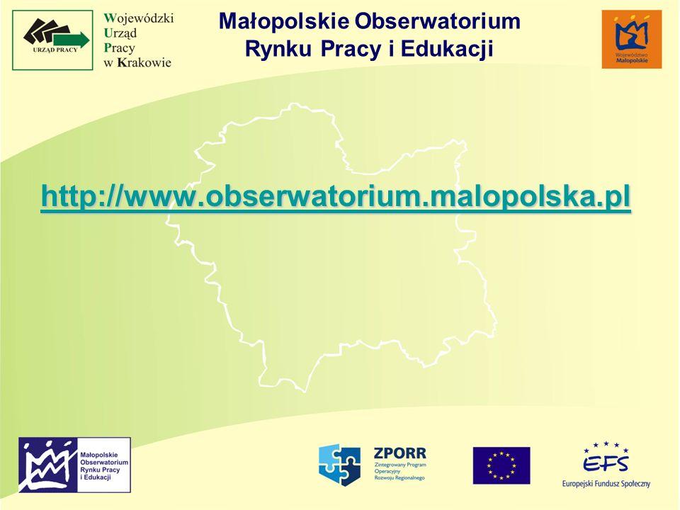http://www.obserwatorium.malopolska.pl http://www.obserwatorium.malopolska.pl http://www.obserwatorium.malopolska.pl Małopolskie Obserwatorium Rynku Pracy i Edukacji