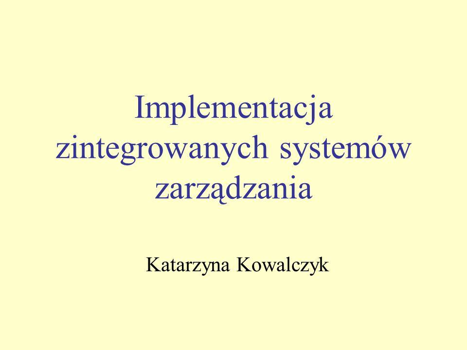 Implementacja zintegrowanych systemów zarządzania Katarzyna Kowalczyk