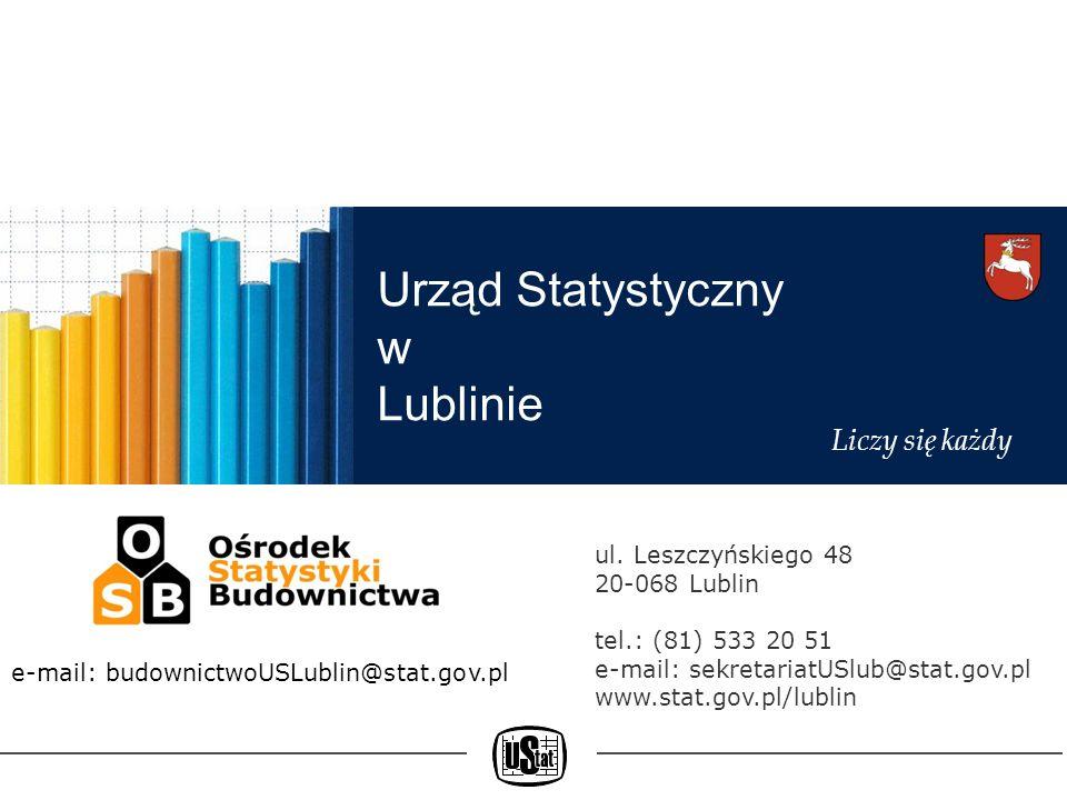 Urząd Statystyczny w LublinieLiczy się każdy Ośrodek Statystyki Budownictwa powstał w 2009 r.