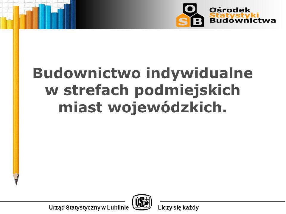 Urząd Statystyczny w LublinieLiczy się każdy Budownictwo indywidualne w strefach podmiejskich miast wojewódzkich.