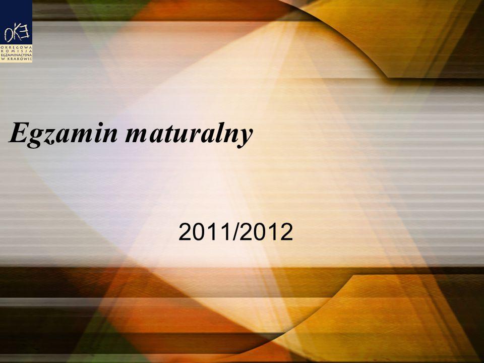 Egzamin maturalny 2011/2012