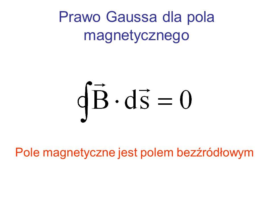 Prawo Gaussa dla pola magnetycznego Pole magnetyczne jest polem bezźródłowym