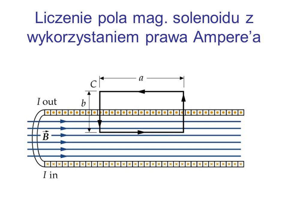 Liczenie pola mag. solenoidu z wykorzystaniem prawa Amperea