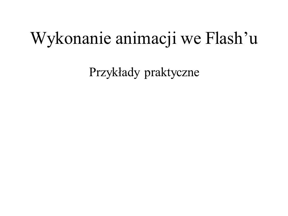 Wykonanie animacji we Flashu Przykłady praktyczne