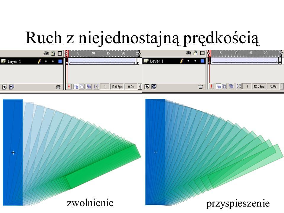 Ruch z niejednostajną prędkością Zastosowania: symulowanie obrotu w trzech wymiarachobrotu w trzech wymiarach symulowanie odbiciaodbicia