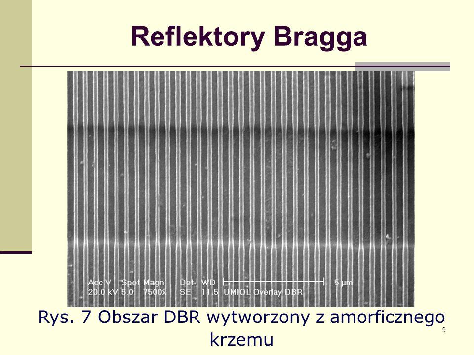 10 Reflektory Bragga Rys.