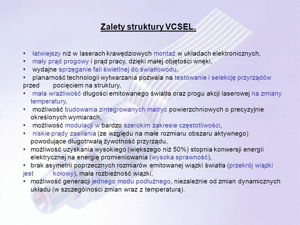 ŹRÓDŁA: http://www.pwt.et.put.poznan.pl http://wtm.ite.pwr.wroc.pl http://www.wemif.pwr.wroc.pl Paweł Maćkowiak: Opracowanie struktury azotkowego lasera o emisji powierzchniowej oraz jej optymalizacja przy użyciu trójwymiarowego i samouzgodnionego modelu jego działania.