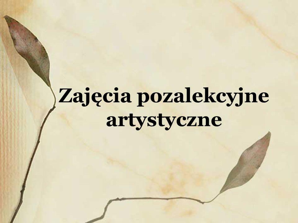 Szkolne zespoły teatralne W szkole działają dwie grupy teatralne: - Zespół Teatralny Arlekin prowadzony przez Danutę Pasich, - Zespół Teatralny Bez sceny , którego opiekunem jest Krystyna Rasińska.