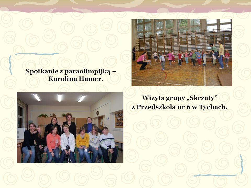 Spotkanie z paraolimpijką – Karoliną Hamer. Wizyta grupy Skrzaty z Przedszkola nr 6 w Tychach.
