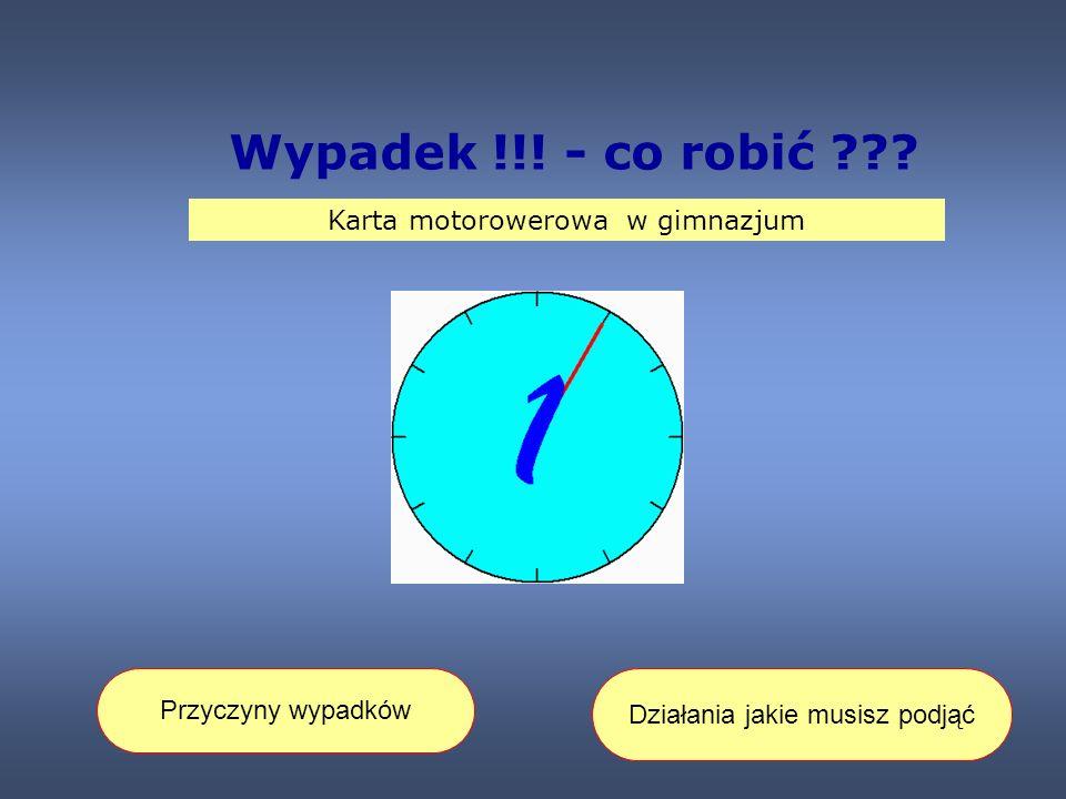 Wypadek !!.- co robić ??.