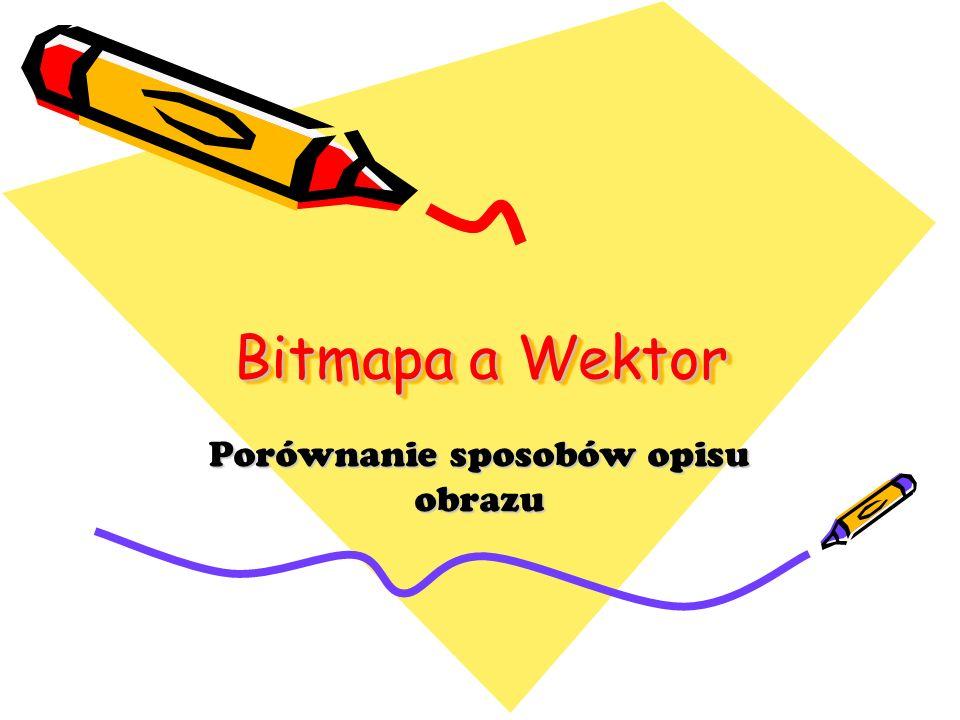 Bitmapa a Wektor Porównanie sposobów opisu obrazu