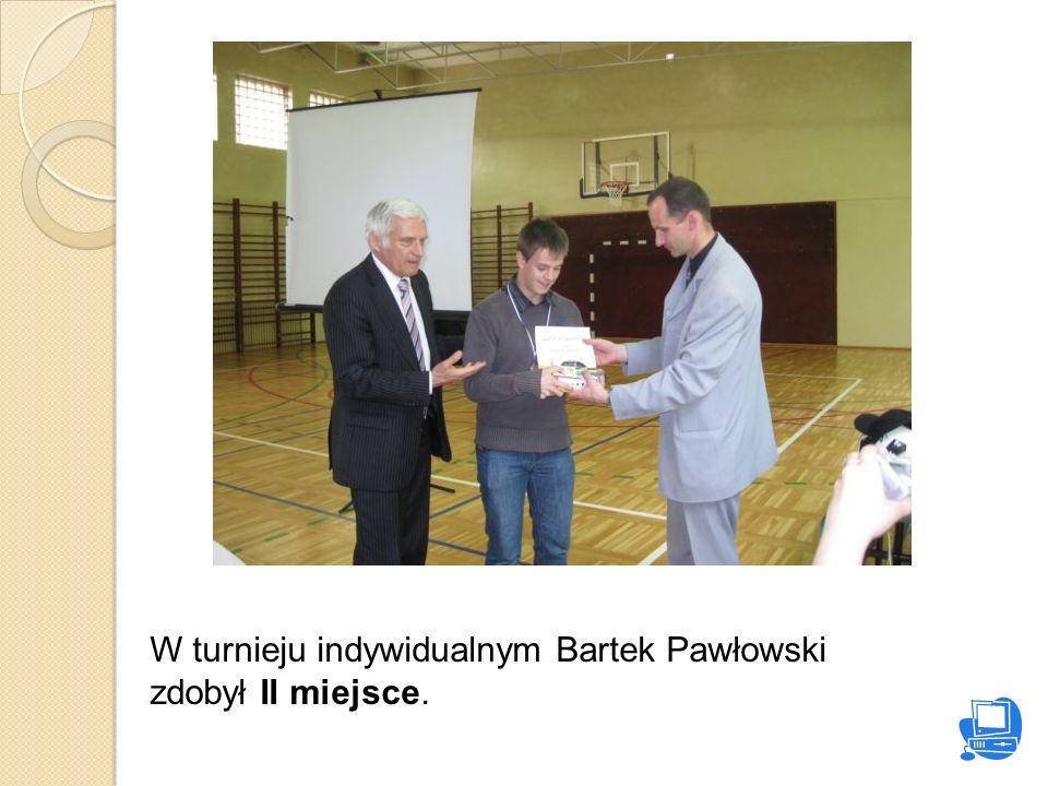 W turnieju indywidualnym Bartek Pawłowski zdobył II miejsce.