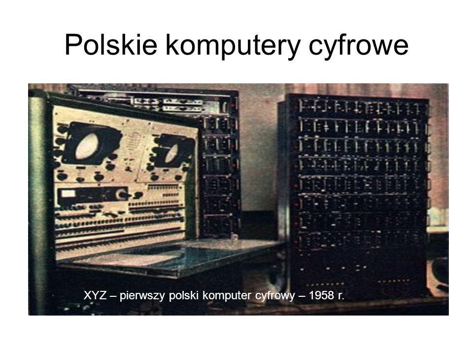 Polskie komputery cyfrowe XYZ – pierwszy polski komputer cyfrowy – 1958 r.