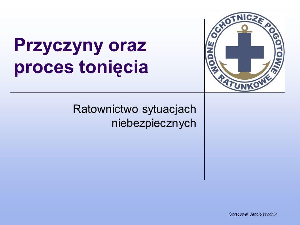 Opracował Jancio Wodnik Przyczyny oraz proces tonięcia Ratownictwo sytuacjach niebezpiecznych