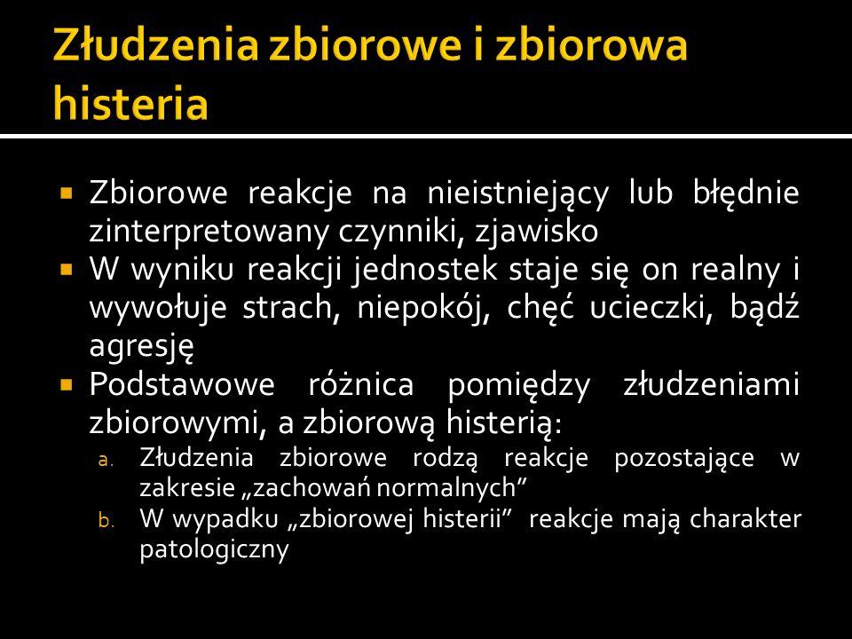 Cztery podstawowe typy złudzeń zbiorowych (R.Bartholomew) a.