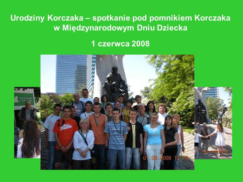 Urodziny Korczaka – spotkanie pod pomnikiem Korczaka w Międzynarodowym Dniu Dziecka 1 czerwca 2008