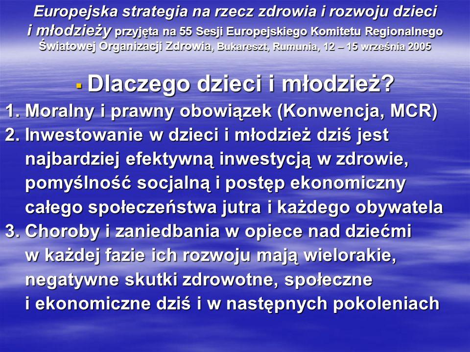 Główne przyczyny urazów u dzieci w Polsce Przyczyna wiek w latach (0-12m) 1 - 4 5 -14 15 -19 (0-12m) 1 - 4 5 -14 15 -19 Komunikacyjne 6,5% 34,1% 48,8% 51,5% Utonięcia nl 23,0% 19,3% 10,1% Zadławienia 63,2% 7,0% 3,6% nl Zatrucia nl 7,8% 4,2% 3,8% Upadki 3,4% 5,5% 3,9% 3,7% Samobójstwa - - 6,3% 18,1% Zabójstwa 11,1% 4,6% 1,8% 2,6% Nl=nieliczne
