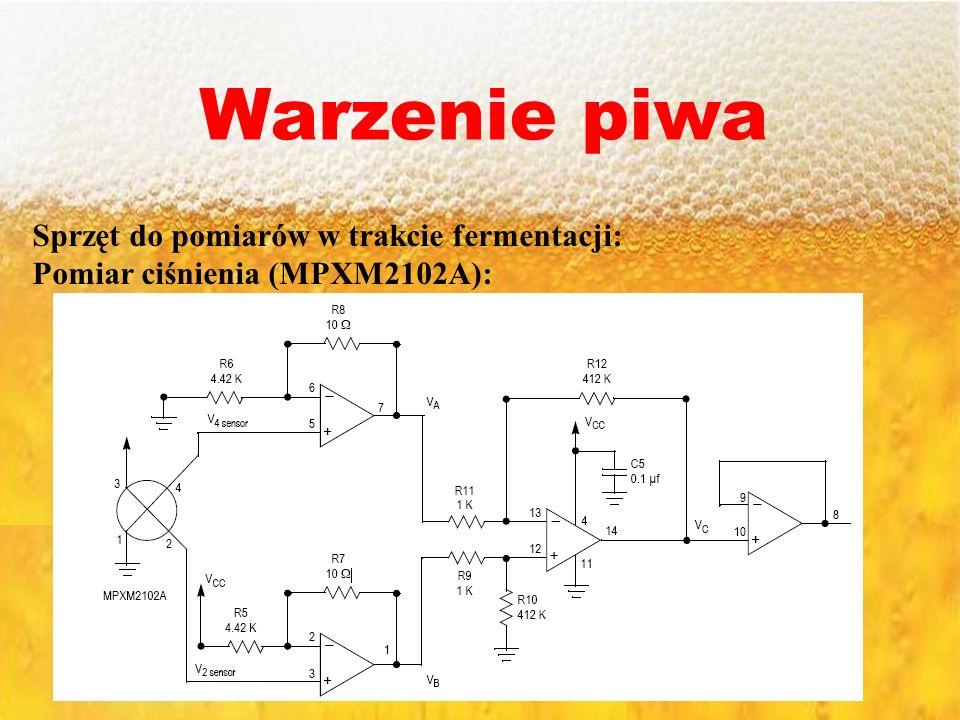 Warzenie piwa Sprzęt do pomiarów w trakcie fermentacji: Pomiar ciśnienia (MPXM2102A):