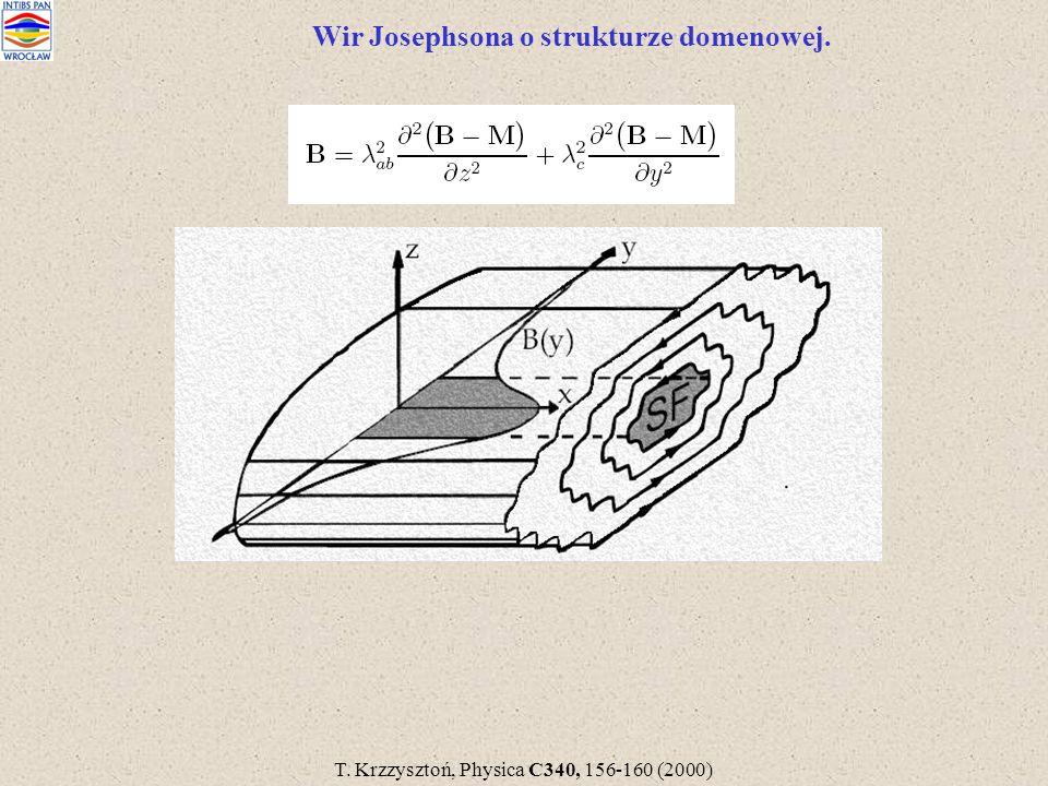 Wir Josephsona o strukturze domenowej. T. Krzzysztoń, Physica C340, 156-160 (2000)