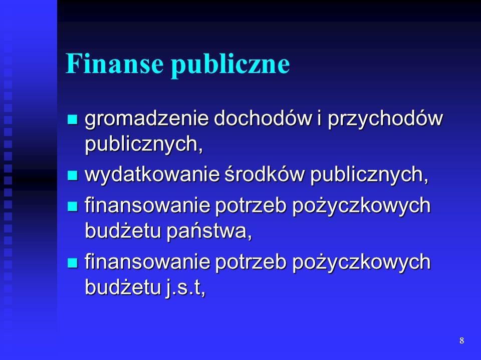 8 Finanse publiczne gromadzenie dochodów i przychodów publicznych, gromadzenie dochodów i przychodów publicznych, wydatkowanie środków publicznych, wydatkowanie środków publicznych, finansowanie potrzeb pożyczkowych budżetu państwa, finansowanie potrzeb pożyczkowych budżetu państwa, finansowanie potrzeb pożyczkowych budżetu j.s.t, finansowanie potrzeb pożyczkowych budżetu j.s.t,