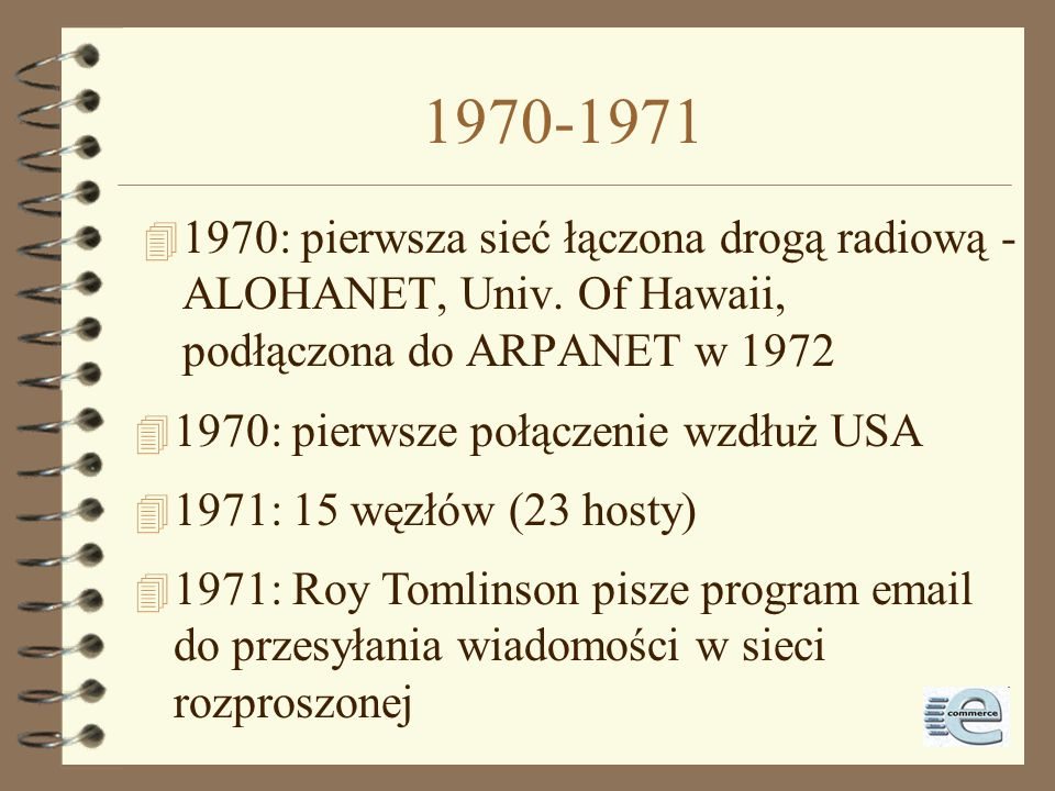 Historia Internetu - początek 4 Diagram pierwsza sieć ARPANET