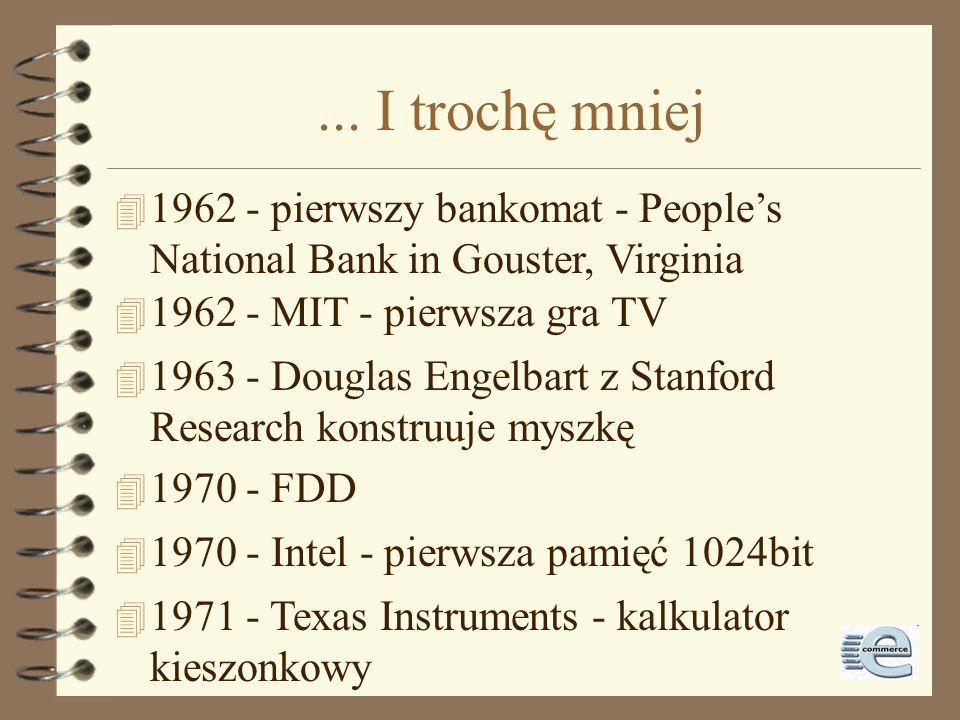 1996-1998 4 1996: włamania roku: –US Dept of Justice (17.08) –CIA (19.09) –UK Labour Party (6.12) –US Air Force (29.12) 4 1996: technologie roku: Java, InternetPhone –NASA (30.12) 4 1998: elektroniczne znaczki pocztowe (US Post)