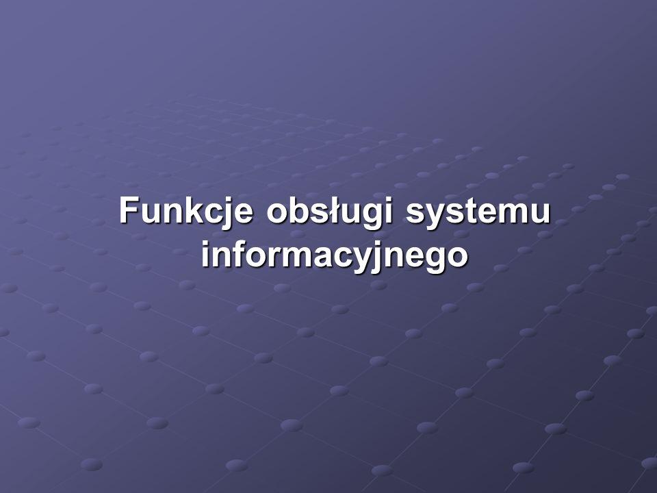 Funkcje obsługi systemu informacyjnego