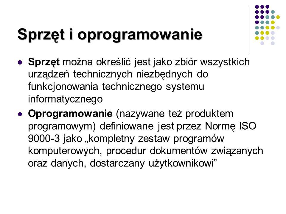 Oprogramowanie Powszechnie spotykane jest, zawężanie pojęcia system informatyczny do jego części składowej – oprogramowania.