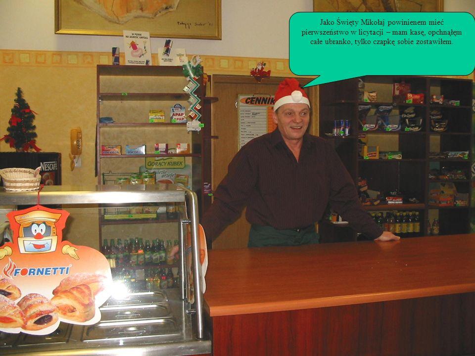 Jako Święty Mikołaj powinienem mieć pierwszeństwo w licytacji – mam kasę, opchnąłęm całe ubranko, tylko czapkę sobie zostawiłem.