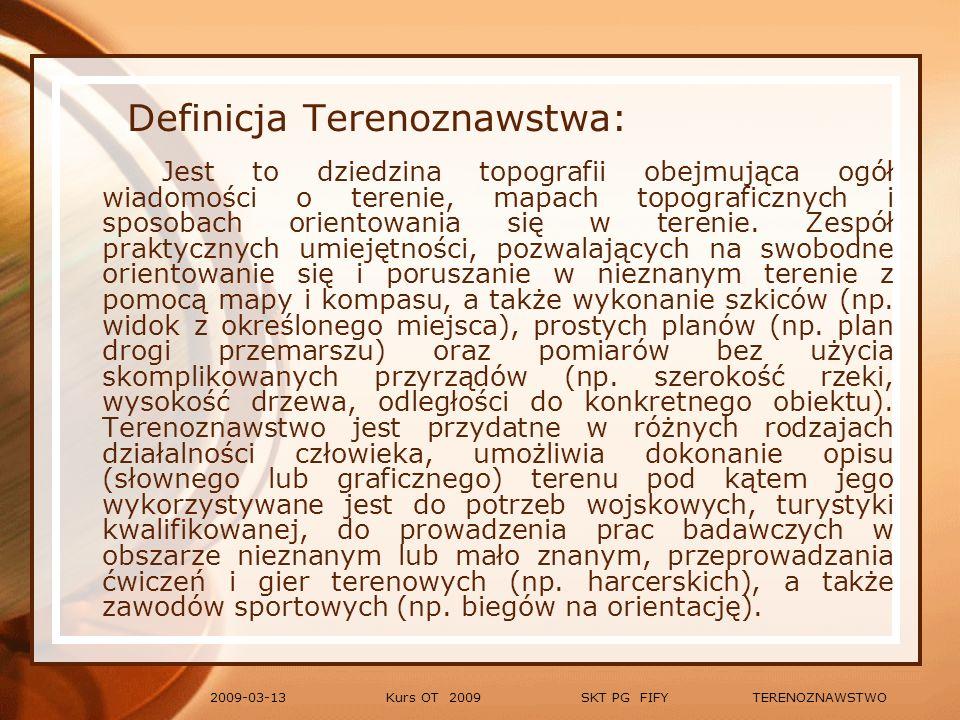 Kurs OT 2009 SKT PG FIFY TERENOZNAWSTWO2009-03-13 Symbole (oznaczenia kartograficzne) Wody i bagna