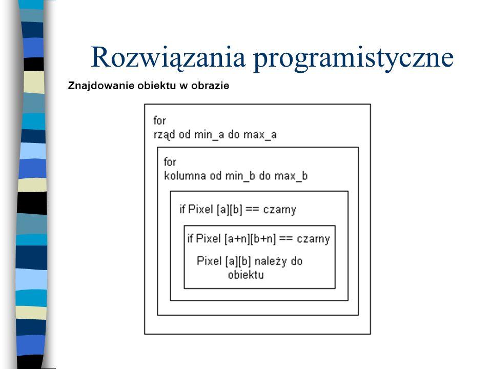 Rozwiązania programistyczne Znajdowanie obiektu w obrazie