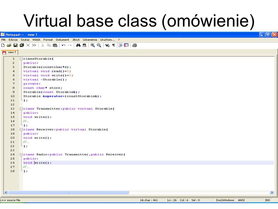 Virtual base class (omówienie)