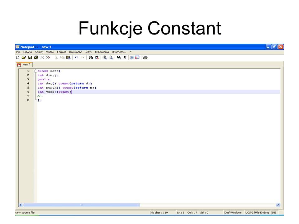 Funkcje Constant