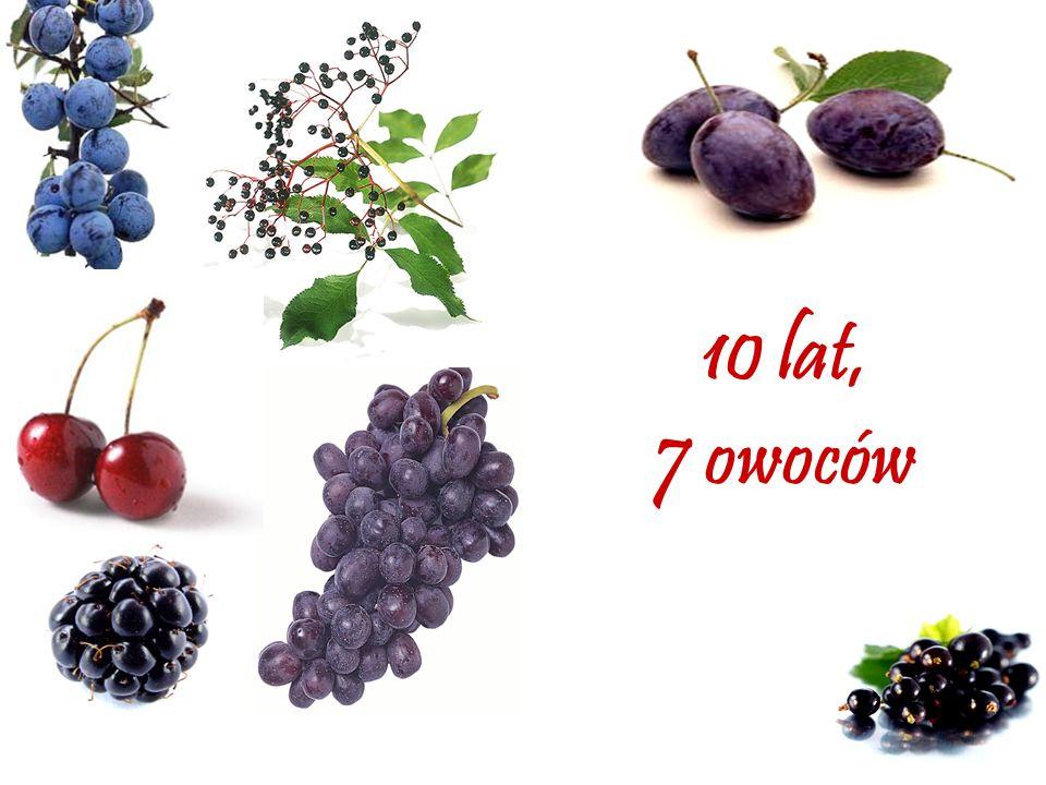 10 lat, 7 owoców