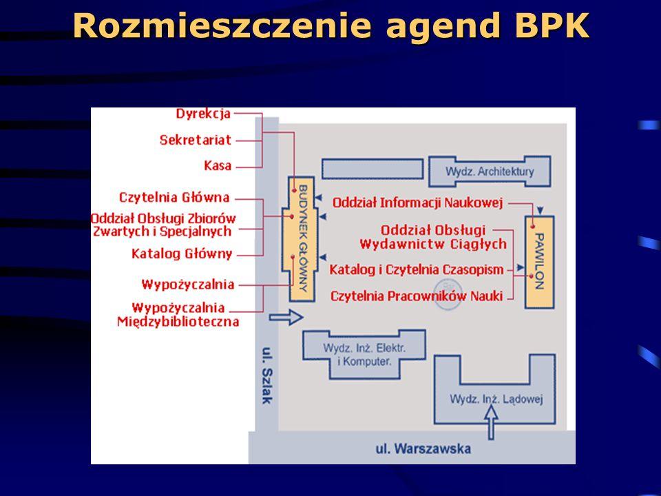 Rozmieszczenie agend BPK