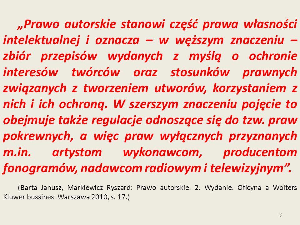 Zdaniem utworów komentarza (*) do art.23 pr.