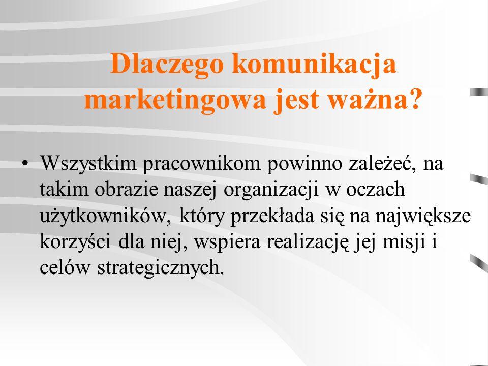 Dlaczego komunikacja marketingowa jest ważna? Wszystkim pracownikom powinno zależeć, na takim obrazie naszej organizacji w oczach użytkowników, który