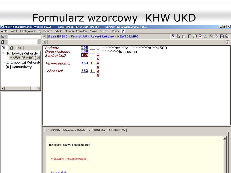 Formularz wzorcowy KHW UKD