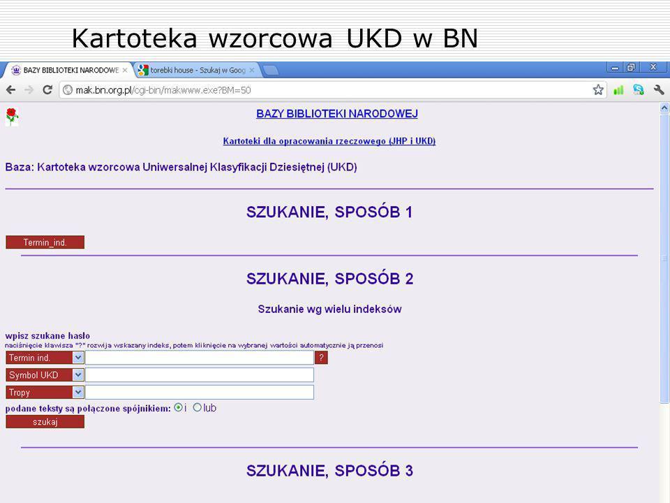 Kartoteka wzorcowa UKD w BN