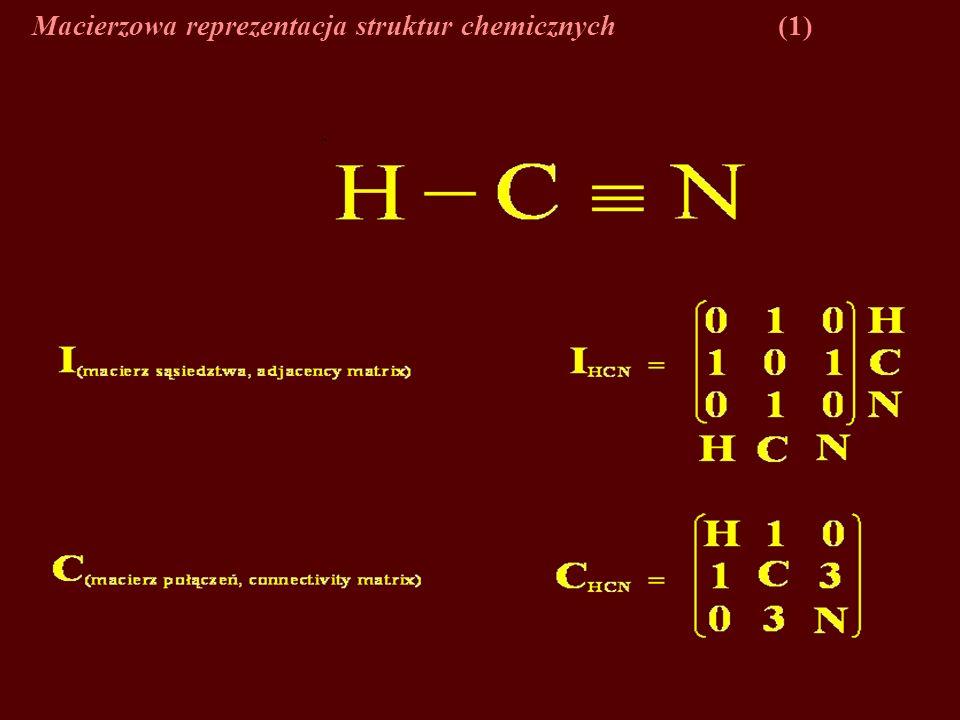 Macierzowa reprezentacja struktur chemicznych (1)