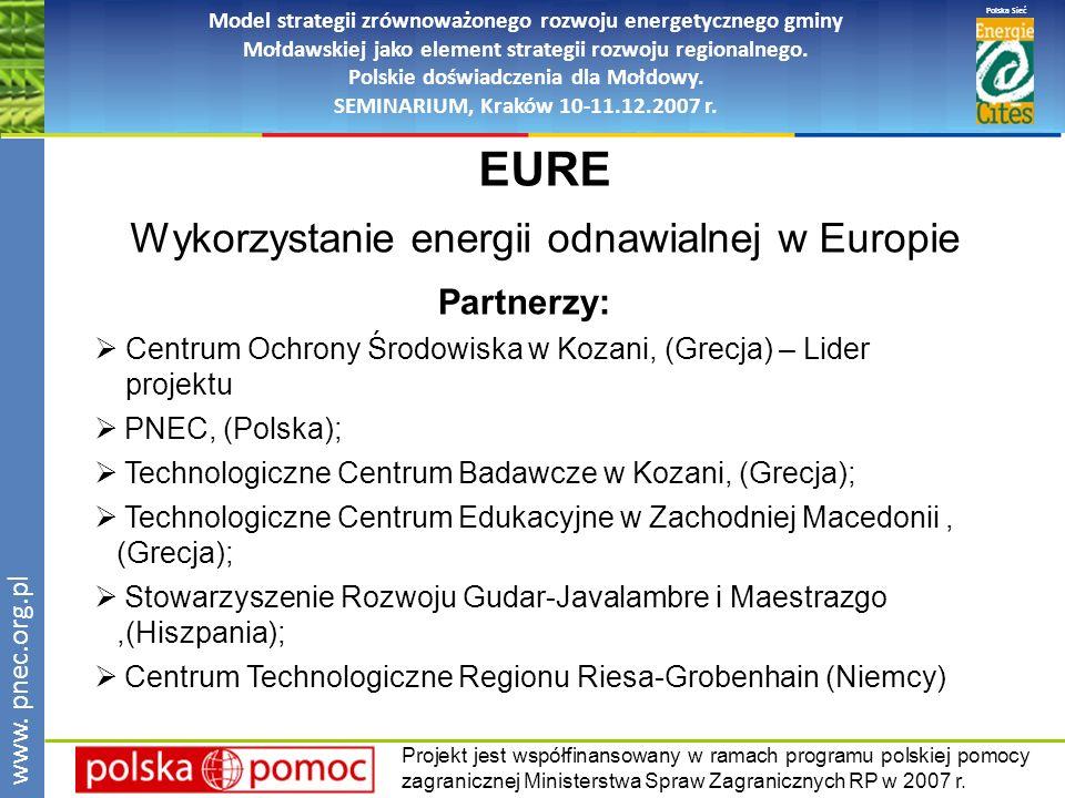 Polska Sieć www. pnec.org.pl Model strategii zrównoważonego rozwoju energetycznego gminy Mołdawskiej jako element strategii rozwoju regionalnego. Pols