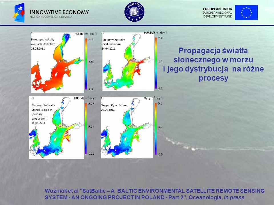 Propagacja światła słonecznego w morzu i jego dystrybucja na różne procesy Woźniak et al