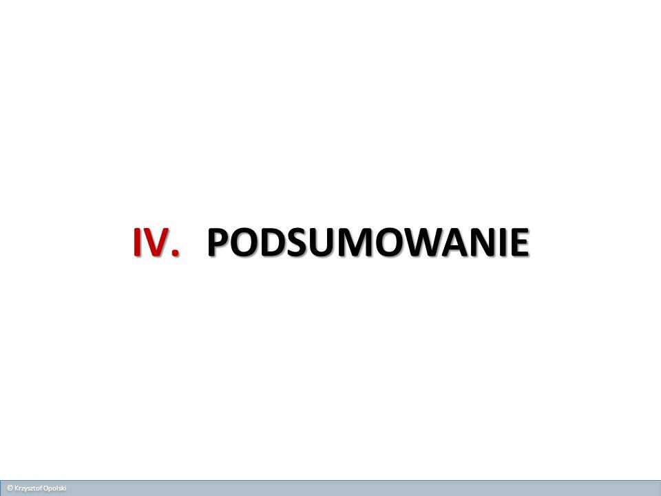 IV.PODSUMOWANIE © Krzysztof Opolski